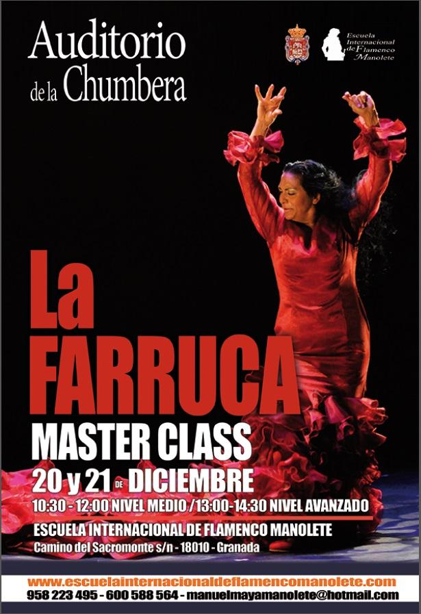 Masterclass de La Farruca en Granada