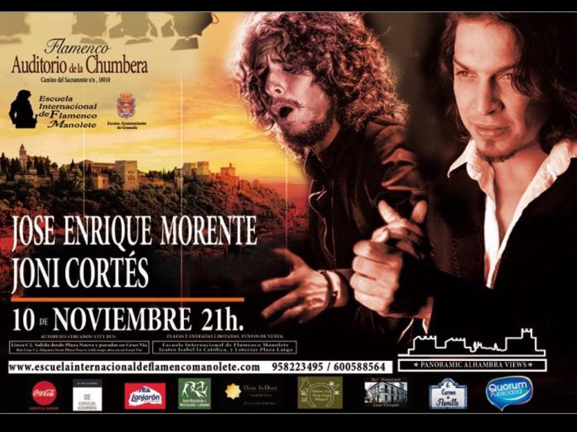 Cartel Jose Erique Morente y Joni Cortés