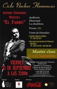 """Cartel masterclass y actuación """"el Farru"""""""