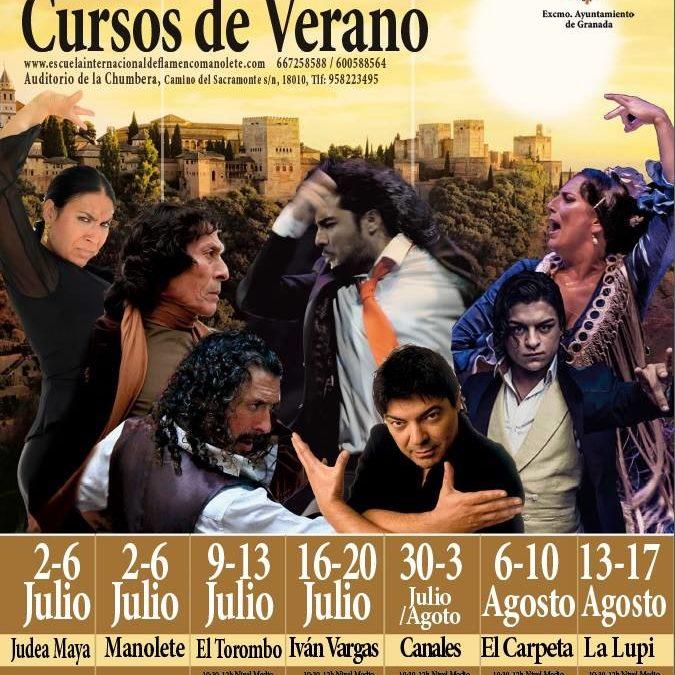Cursos de flamenco para este próximo verano 2018