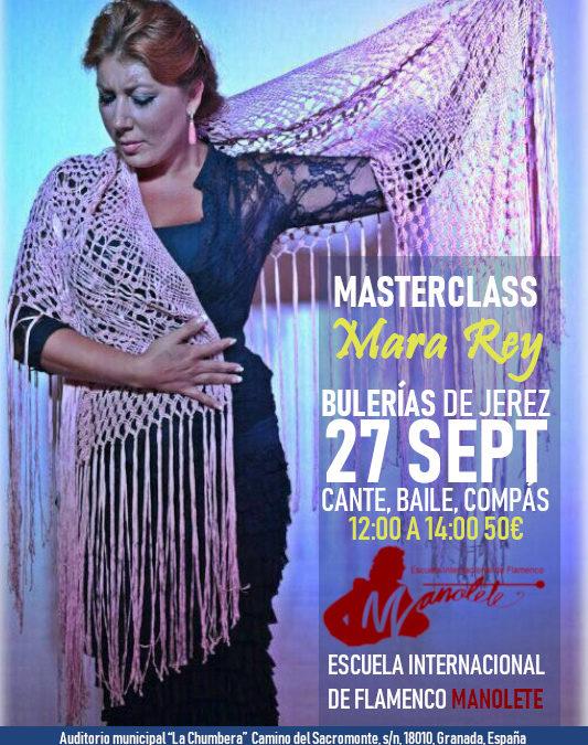 Masterclass Mara Rey 27 Septimebre