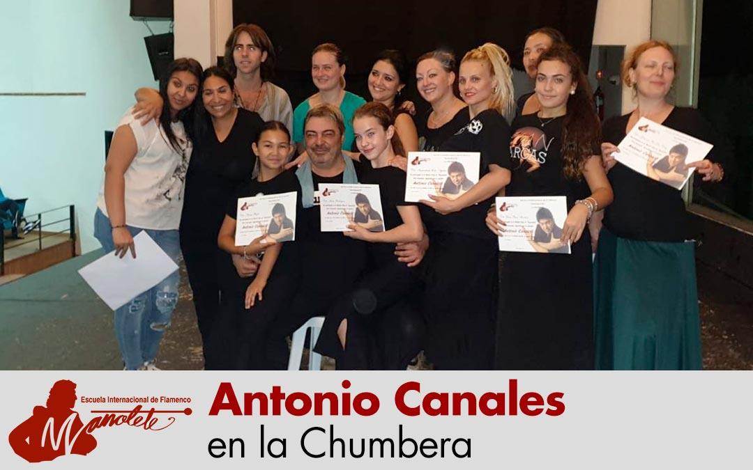 Antonio Canales en la Chumbera