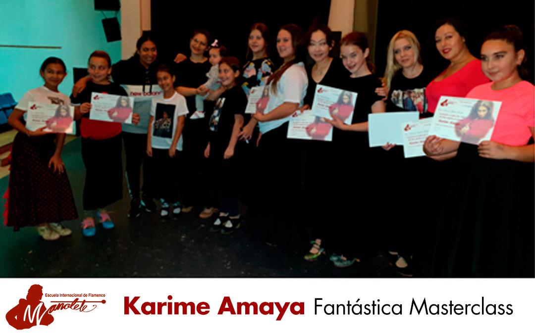 Fantástica masterclass con Karime Amaya
